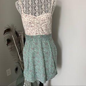 ARITZIA Wilfred Lyocell Dress Green Paisley Sz 10